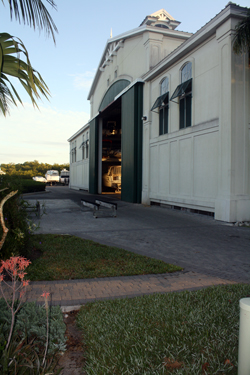 Dry boat storage building at Port Sanibel Marina, Fort Myers, Florida