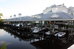 Boat Docking At Port Sanibel Marina Fort Myers Florida Wet Storage
