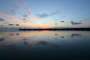 the off-season on Sanibel Island sunset