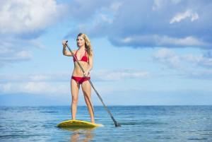 paddle boarding on Sanibel Island