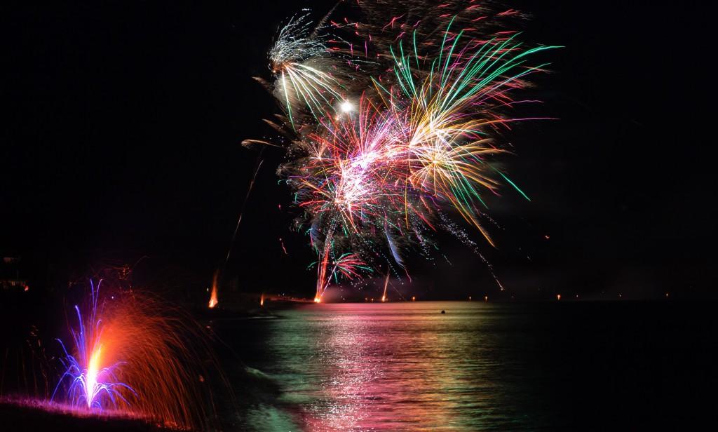 fourth of july fireworks on Sanibel Island