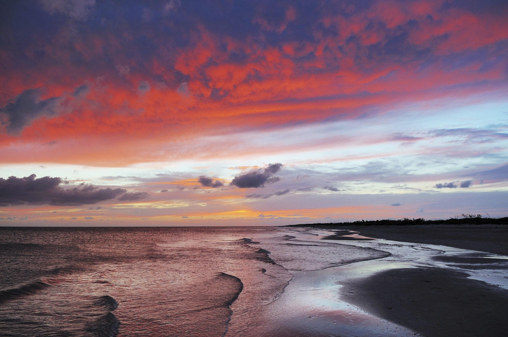 Dramatic And Colorful Sunset At Bowmans Beach On Sanibel Island FloridaMy Personal