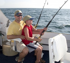 Father and son enjoy Sanibel Island fishing