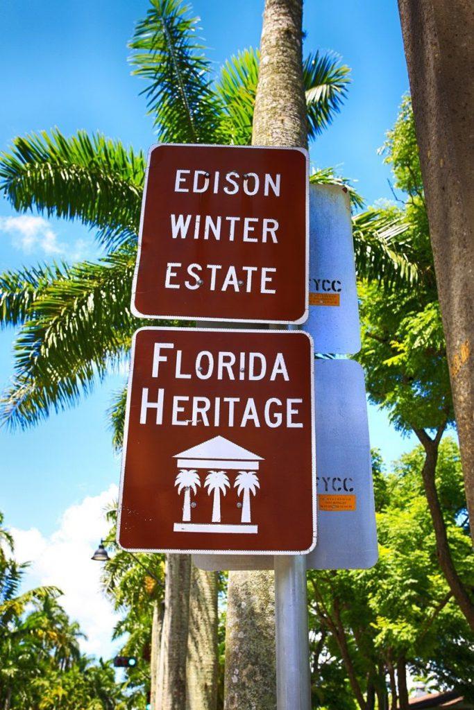 edison ford winter estates sign